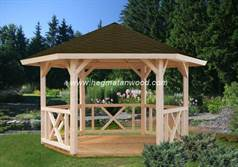 Wooden Gazebo Kit-AFR04